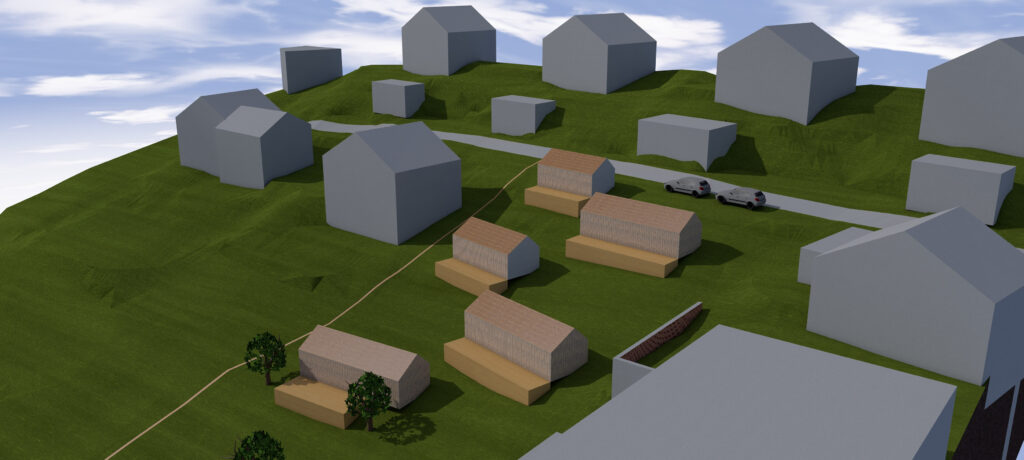 Webseite Rendering Rotenwies Tiny House Siedlung 1 von 1